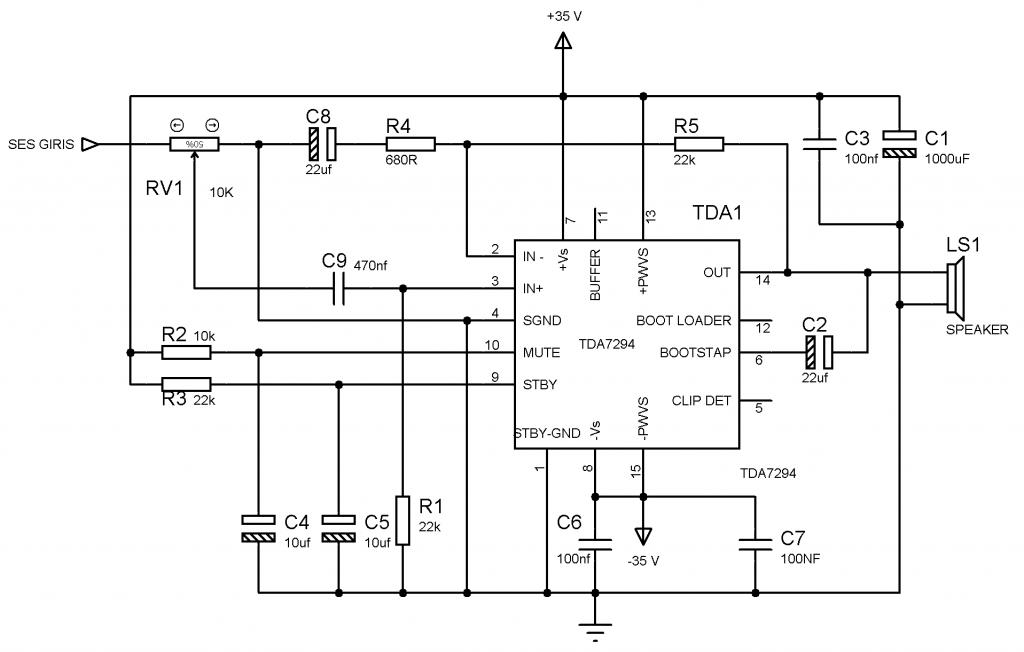 100 watt amplifikatör