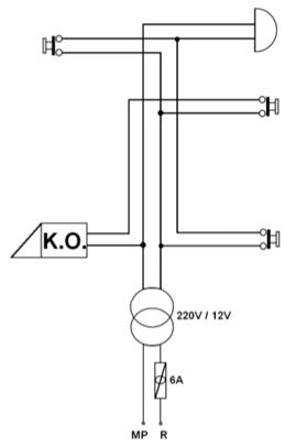 1 Kat 1 Daireli Kapı Otomatiği Tesisatı Açık Şeması