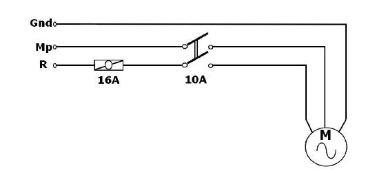 Bir Fazlı Motorların Paket Şalterle Kumandası açık şema