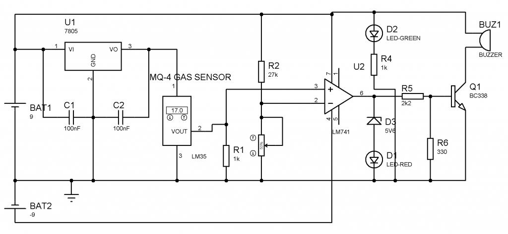 gaz sensörü (karşılaştırıcı uygulaması)