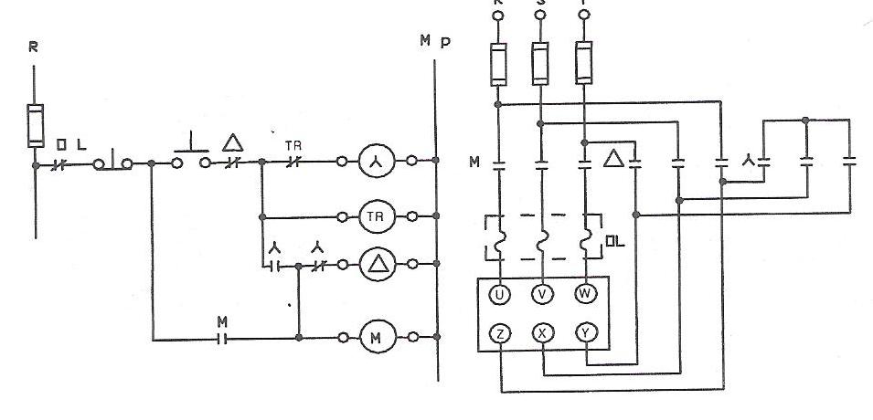 11 asenkron motora otomatik yıldız üçgen şalterle yol verme