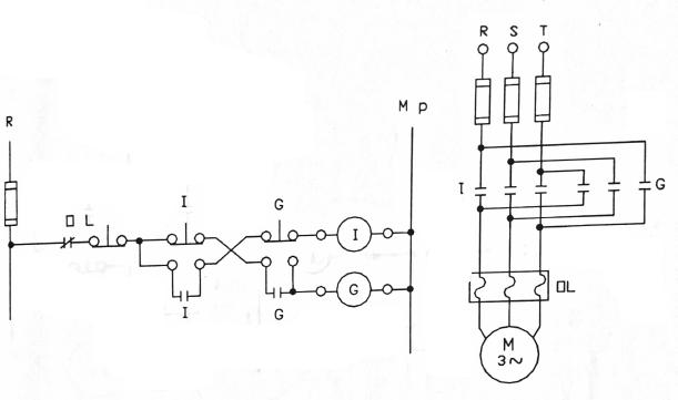5 asenkron motorun iki yönde kilitlemeli devir yönünü değiştirme