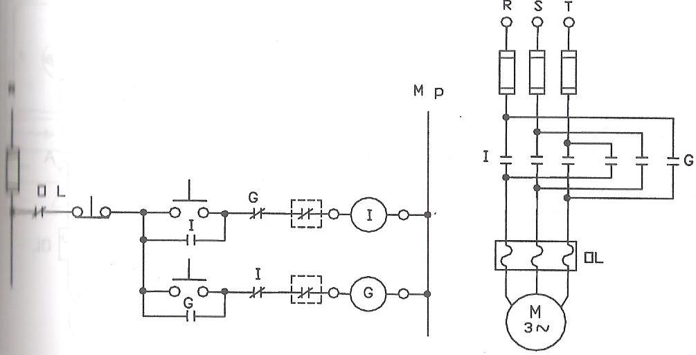 7 asenkron motorun sınır anahtarı ile iki yönde çalıştırılması