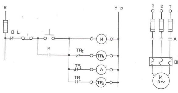 9 asenkron motorun zaman ayarlı çalışması ve durması